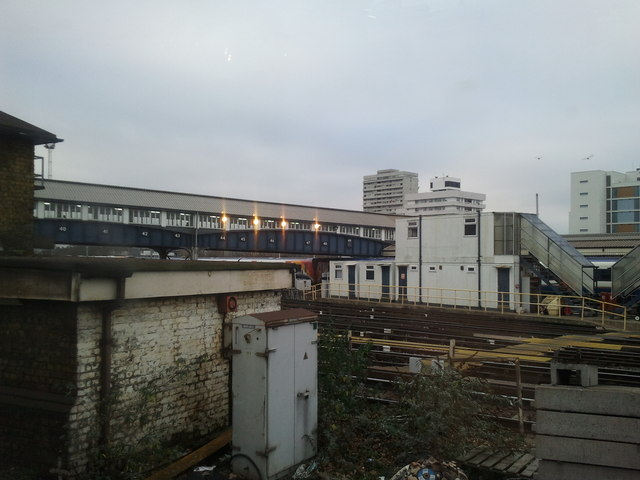 Clapham Junction station buildings and tracks