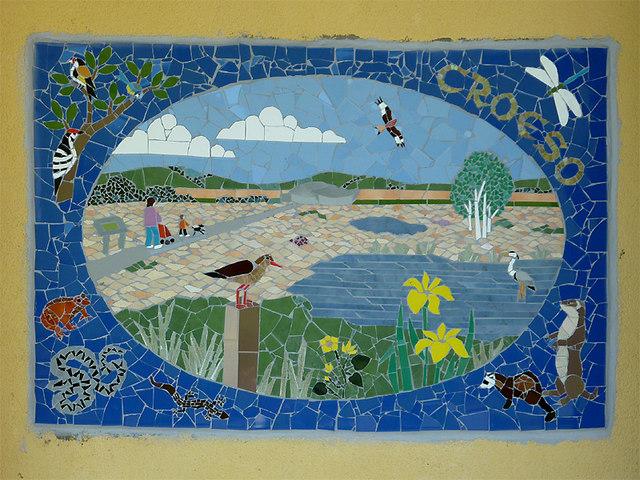 Mosaic mural of Cors Caron, Ceredigion