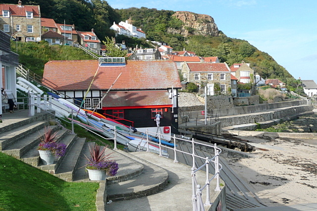 Inshore rescue boat station at Runswick Bay