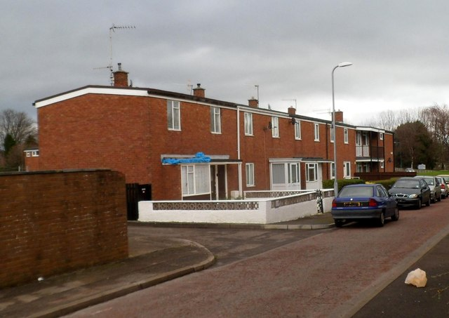 Houses on the north side of Plas Craig, Cwmbran