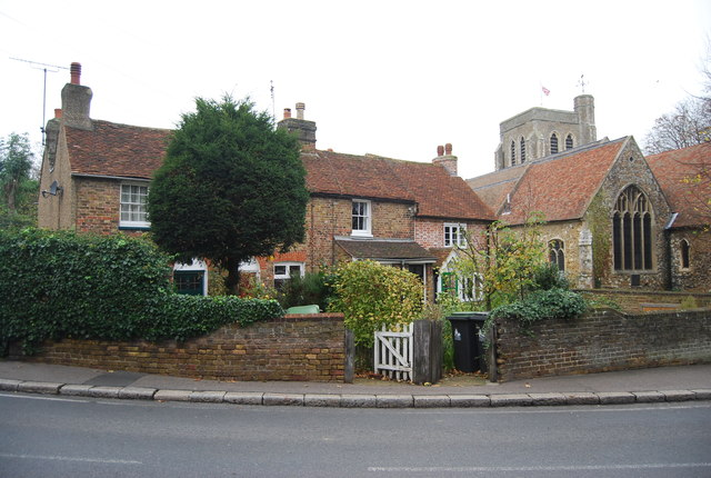 Cottages by St Martin's Church