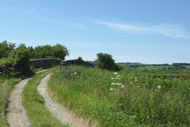 Bridleway and bridge north of Tregaron, Ceredigion