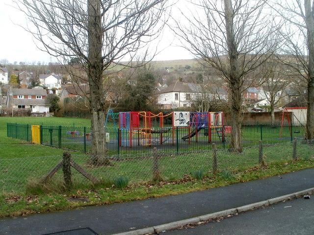 Children's play area, The Crescent, Machen