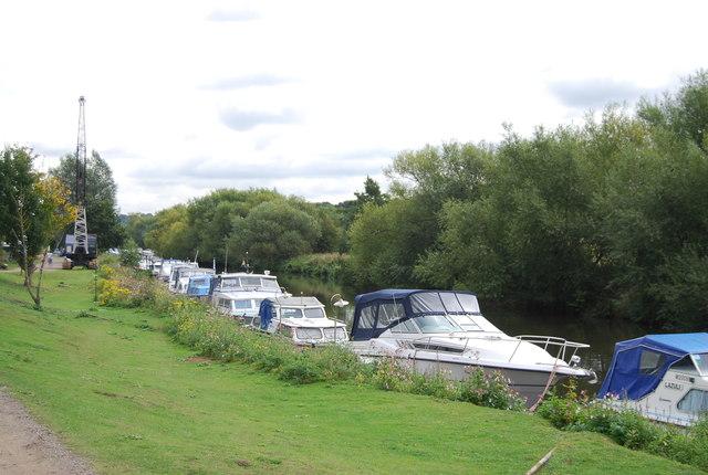 Boats moored at Bow Bridge