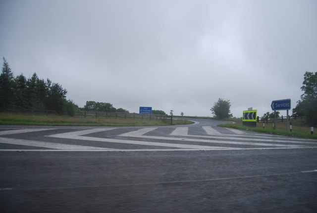 Slip road to Gretna Services