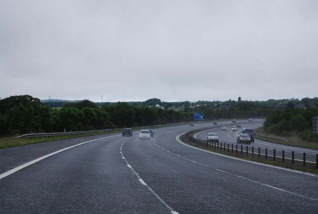 Sweeping curve, A74(M)