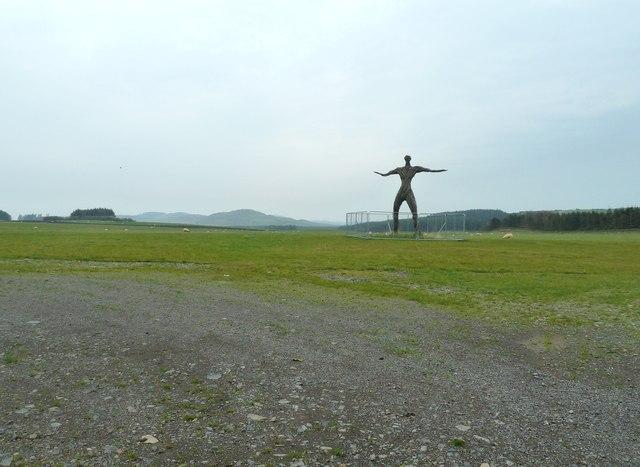 In the Wickerman field, looking northwest