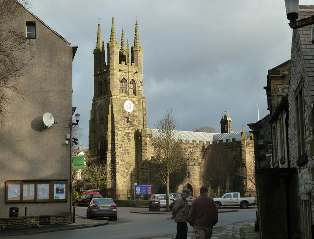 Tideswell - view towards the church