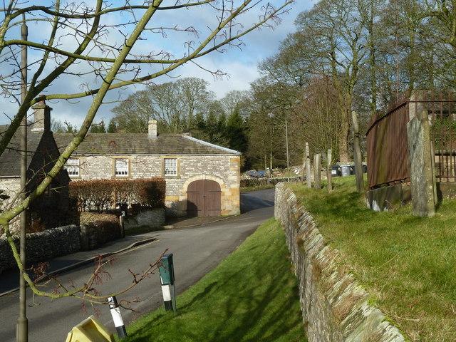 By Hartington churchyard