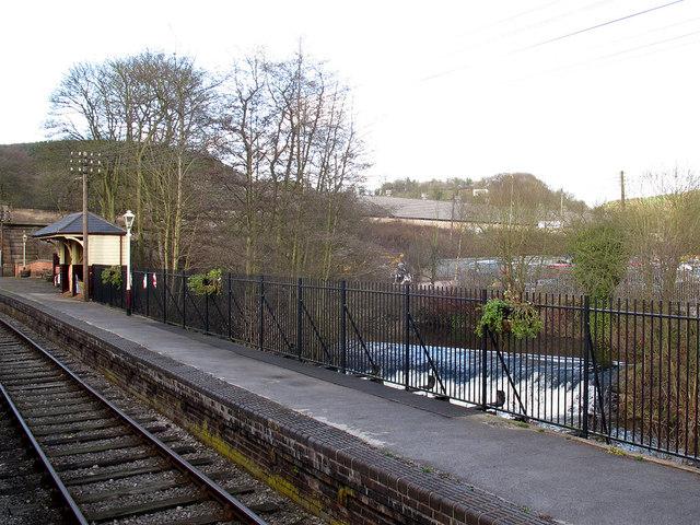 Froghall station, southbound platform
