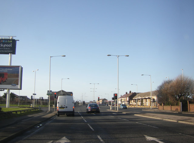 Traffic lights on Squires Gate Lane