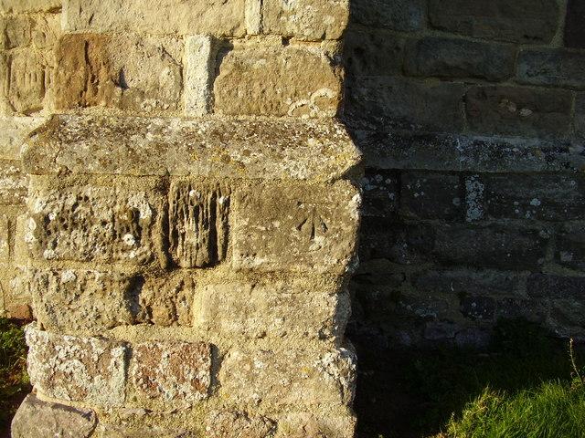 Cut Bench Mark on St Swithuns Church