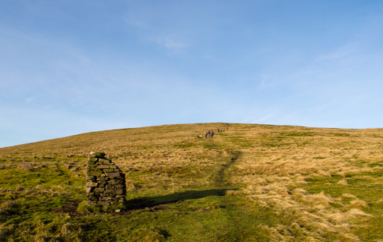 Approaching King's Seat Hill