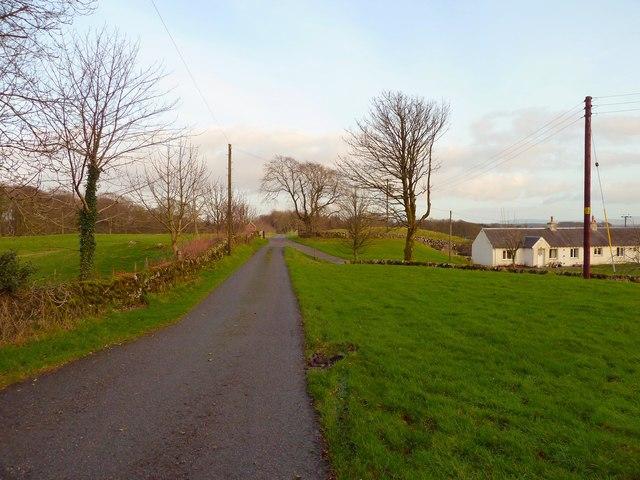 Farm track at Craichlaw Mains