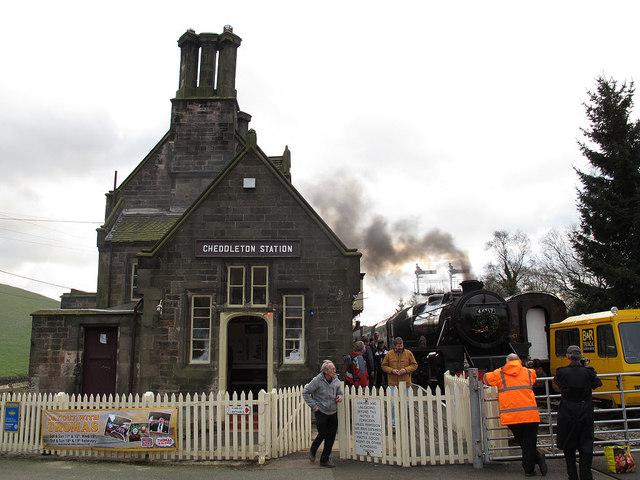 Cheddleton station, north end