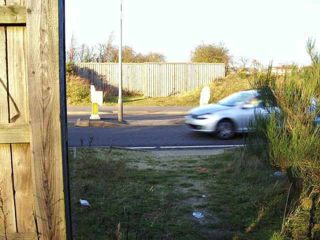 Bridle path crossing A617