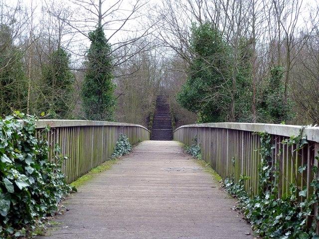Footbridge to the Dearne Valley Park