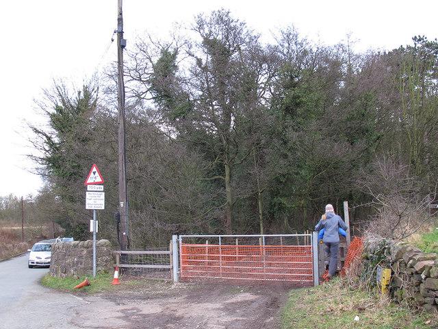 Gate and stile at Basford Bridge