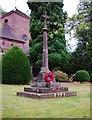 SJ7601 : Beckbury Memorial Cross (war memorial), Badger Lane, Beckbury by P L Chadwick