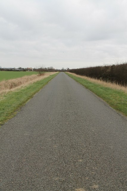 Scredington Road near Burton Pedwardine
