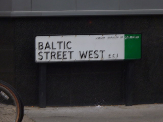Street sign, Baltic Street West EC1