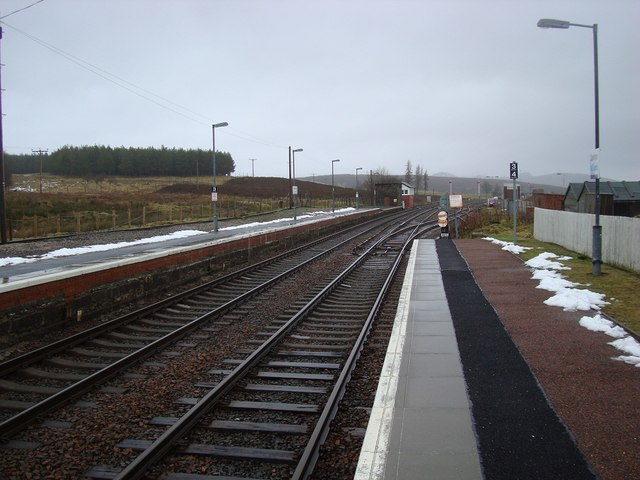Dalwhinnie Station Looking North