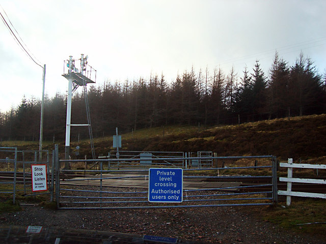 Level Crossing at Dalwhinnie