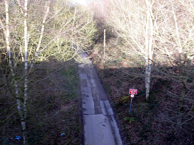 Access road to Leek sewage works