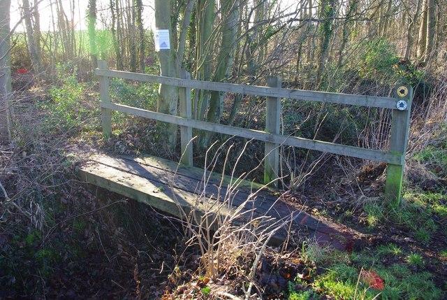 Footbridge into Wrestlingworth Plantation