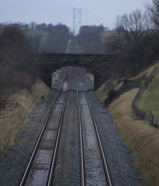 Railway line at Turnhouse