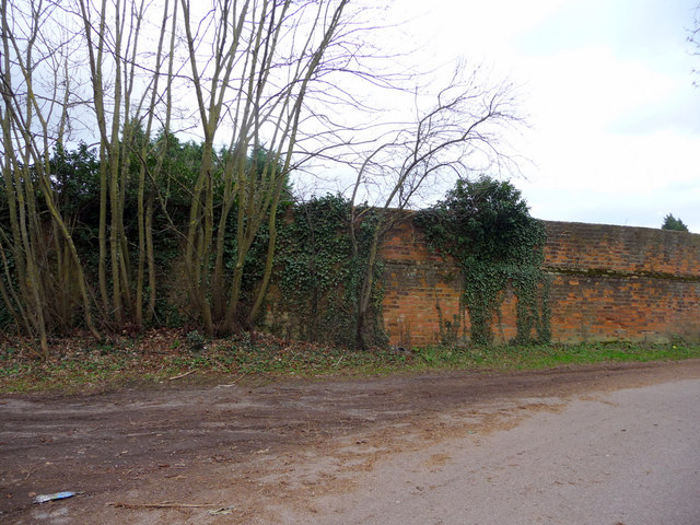 Boundary Wall, Old Park Ride, Theobalds House, Enfield