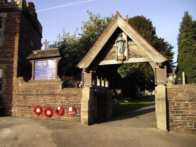 Lych gate, St Basil's Church, Bassaleg