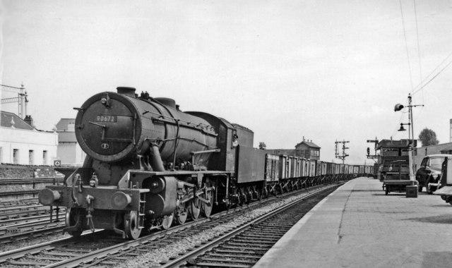 Down iron ore train entering Newport