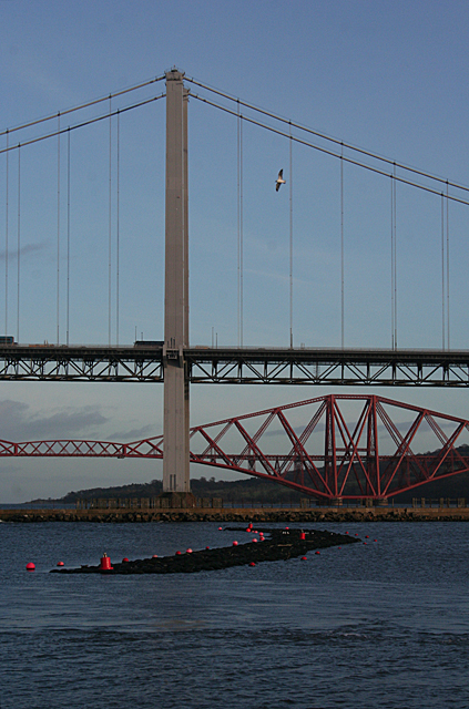 A Boom and Two Bridges
