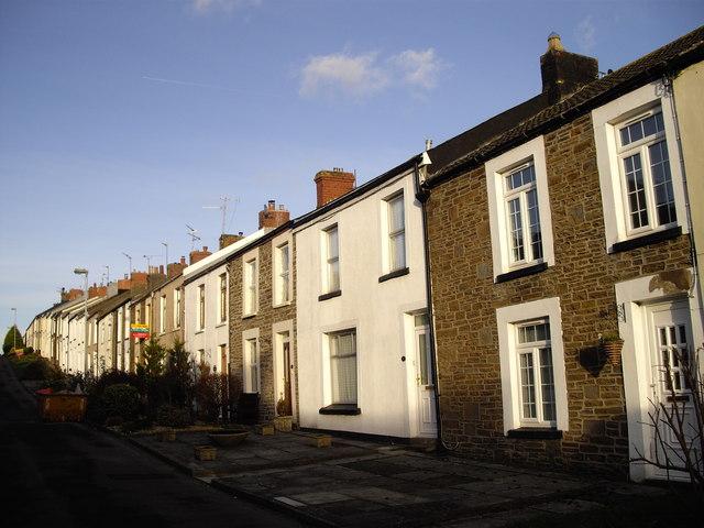 Terraced houses,Tredegar St, Rhiwderin
