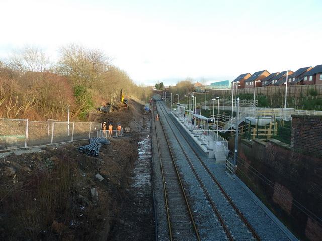 Metro/railway at Dean Lane Station
