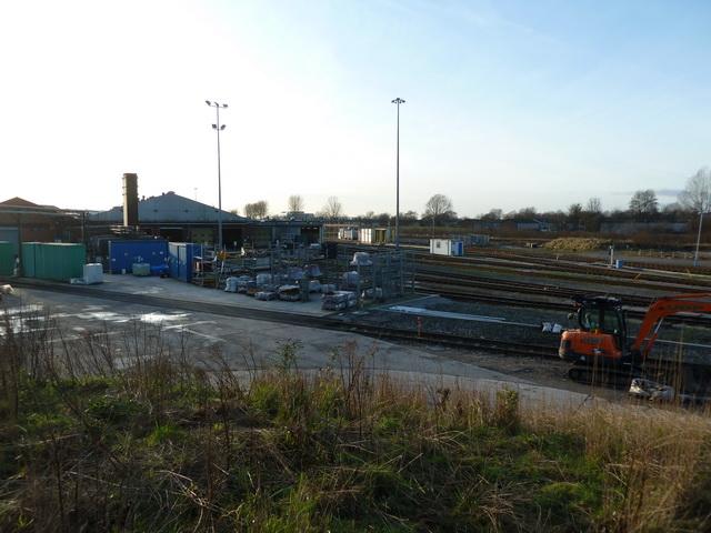 Railway yard at the end of Dean Lane, Newton Heath