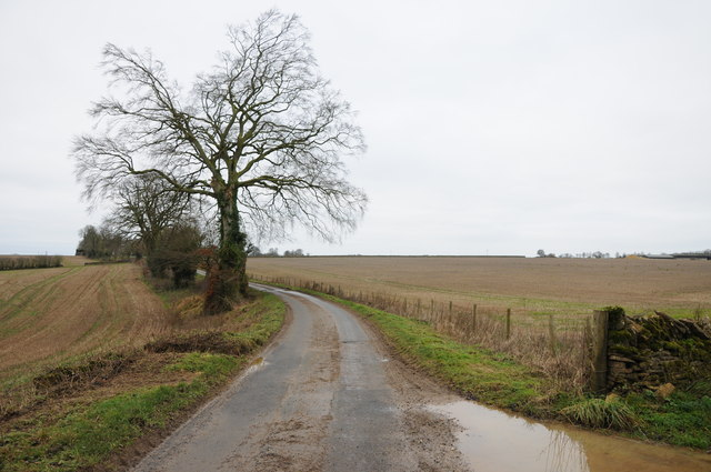 Country road near Elkstone