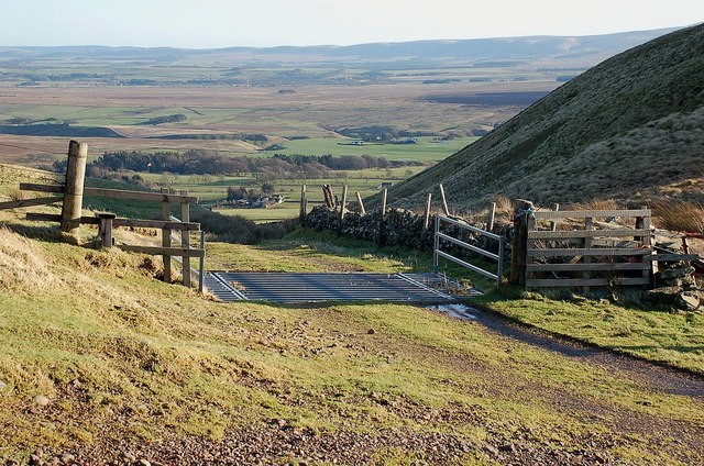 Cattle grid above Spittal Farm