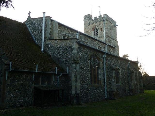 All Saints, Caddington - rear view