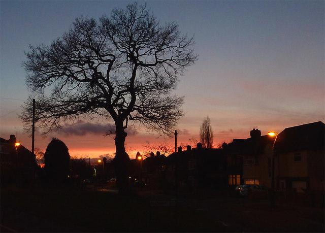 Sunset over Penn, Wolverhampton