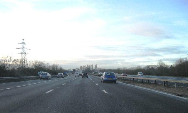 M23 crosses into West Sussex