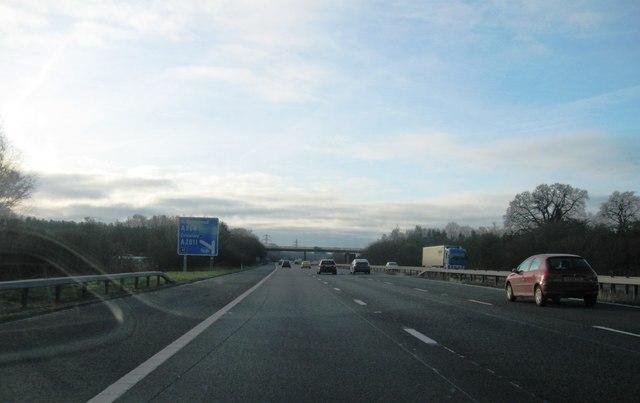 M23 near Shipley Bridge