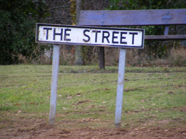 The Street Rushmere sign