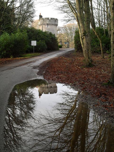 Exit of Dunrobin castle