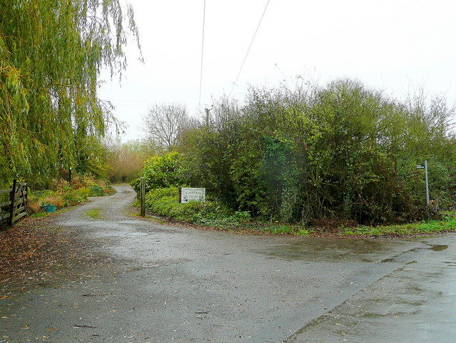 Farm entrance  and bridleway