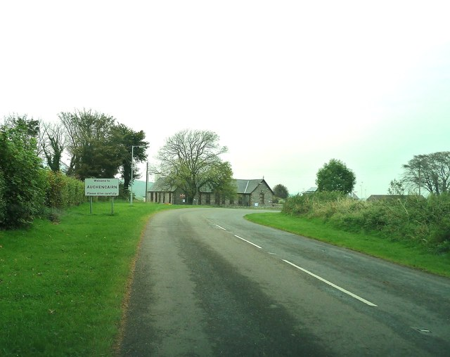 Entering Auchencairn on the A711