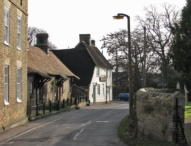 Fen Ditton: Church Street in January