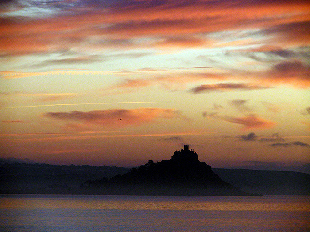 Dawn over St Michael's Mount