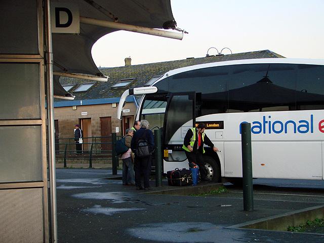 Boarding the London coach